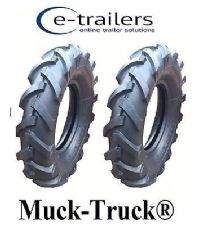 400x10 CLEATED TYRES FOR - Muck-Truck® POWER-BARROWS ROTAVATORS MINI TRACTOR x 2